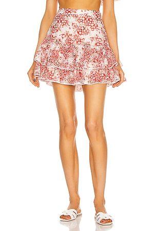 CHARO RUIZ IBIZA Natalie Skirt in Floral, ,White