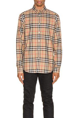 Burberry Long Sleeve Shirt in Neutral,Plaid