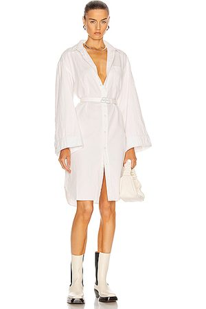 R13 Oversized Sleeve Button Up Shirt Dress in