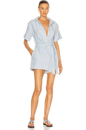 TERRY Belted Romper in