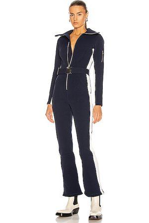 Cordova Over the Boot Ski Suit in ,Stripes,White
