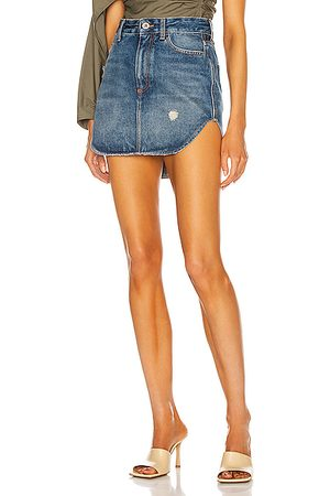 ATTICO Rounded Hem Mini Skirt