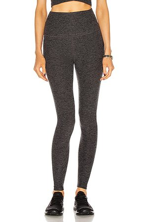 Beyond Yoga Spacedye Caught In The Midi High Waisted Legging in Charcoal