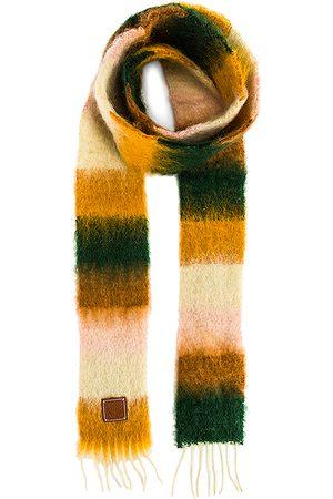 Loewe Stripe Mohair Scarf in ,Green,Stripes