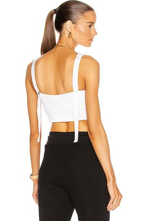 THE RANGE Wave Rib Band Crop Top in