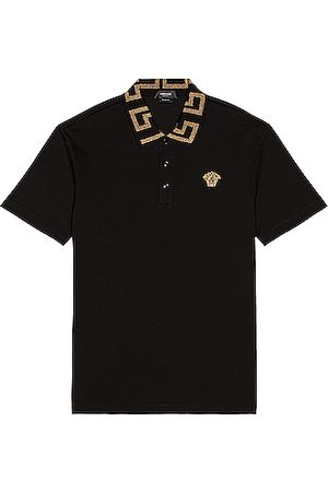 VERSACE Taylor Fit Polo in ,Metallic Gold