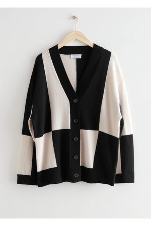 & OTHER STORIES Oversized Colour Block Cardigan