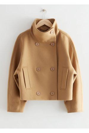 & OTHER STORIES Double Breasted Cropped Boxy Jacket