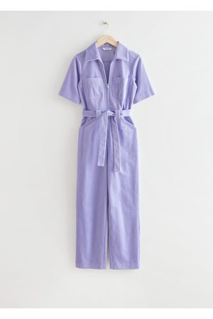 & OTHER STORIES Belted Cropped Corduroy Jumpsuit