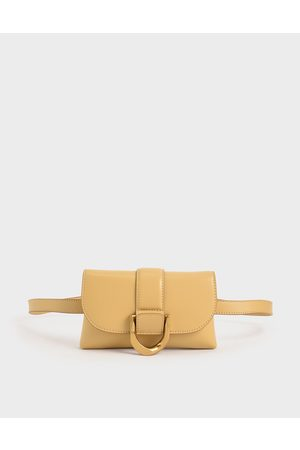 CHARLES & KEITH Metallic Buckle Crossbody Bag