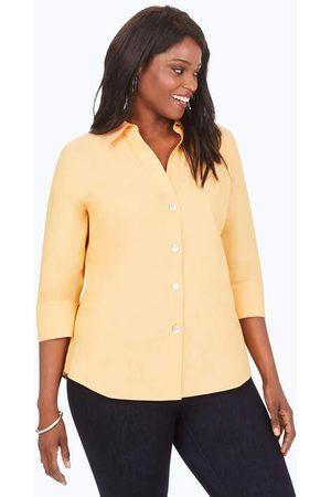 Foxcroft Paityn Plus Pinpoint Non-Iron Shirt
