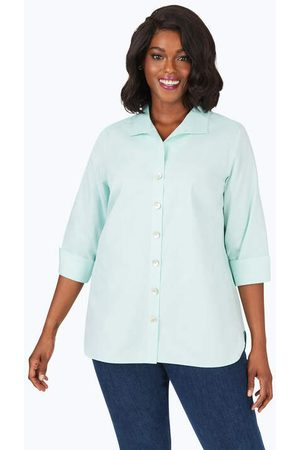 Foxcroft Women Tunics - Pandora Plus Pinpoint Non-Iron Tunic