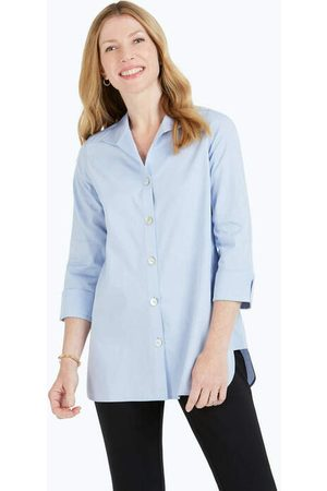 Foxcroft Women Tunics - Pandora Essential Pinpoint Non-Iron Tunic