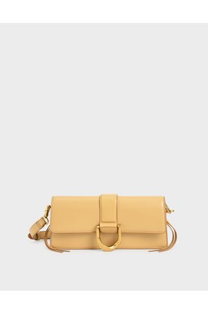 CHARLES & KEITH Metallic Buckle Shoulder Bag