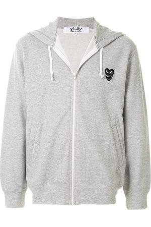 Comme des Garçons Logo patch hoodie - Grey