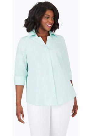 Foxcroft Taylor Plus Pinpoint Non-Iron Shirt