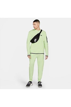 Nike Tech Fleece Taped Jogger Pants in /Light Liquid Lime Size Small Cotton/Polyester/Fleece