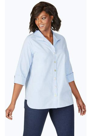 Foxcroft Pandora Plus Essential Pinpoint Non-Iron Tunic