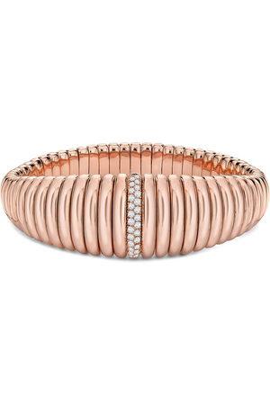 Pragnell Women Bracelets - 18kt rose gold diamond bangle bracelet
