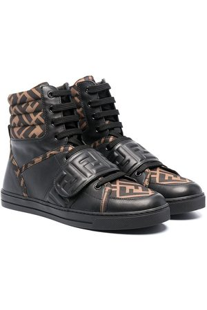 Fendi TEEN FF-motif high-top sneakers