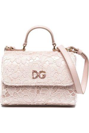 Dolce & Gabbana Girls Bags - Lace logo plaque bag
