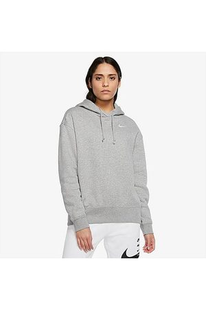 Nike Women's Sportswear Hoodie in Grey/Dark Grey Heather Size X-Small Cotton/Polyester/Fleece