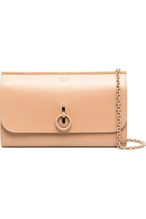 MULBERRY Amberley leather clutch bag - Neutrals