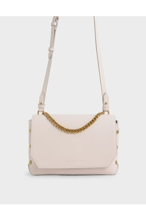 CHARLES & KEITH Chain Handle Shoulder Bag