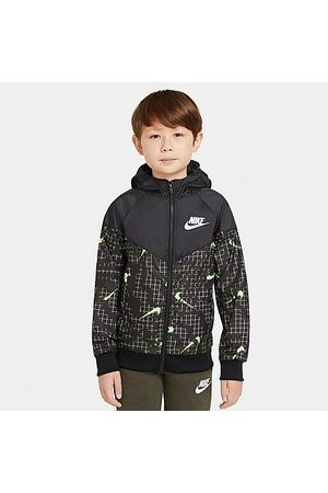 Nike Kids' Sportswear Allover Print Swoosh Windbreaker Jacket Size Small 100% Polyester