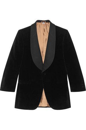 Gucci Contrast lapel velvet jacket