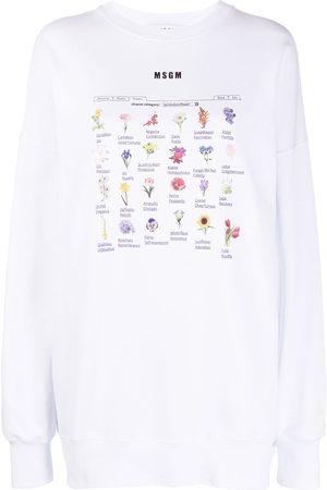 Msgm Floral-print sweatshirt