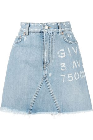 Givenchy Logo-print denim skirt