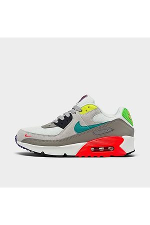 Nike Big Kids' Air Max 90 EOI Casual Shoes in /Pearl Grey Size 4.0 Leather