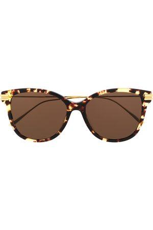 Bottega Veneta Tortoiseshell effect round sunglasses