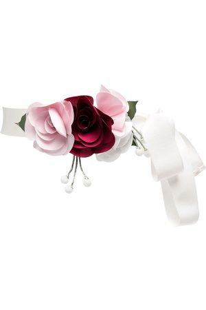 MONNALISA Floral-embellished belt