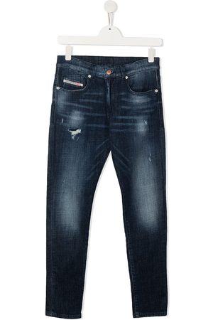 Diesel TEEN distressed skinny-fit jeans