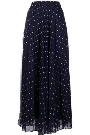 P.a.r.o.s.h. Polka-dot print pleated skirt