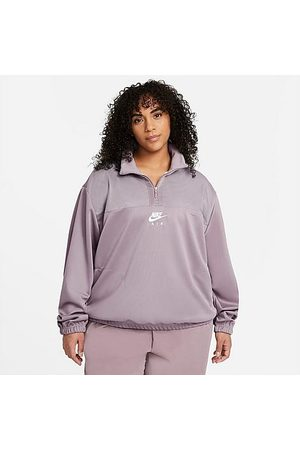 Nike Women's Air Quarter-Zip Sweatshirt (Plus Size) in / Smoke Size Extra Large Fleece