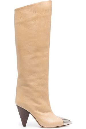 Isabel Marant Lelize leather knee-high boots - Neutrals