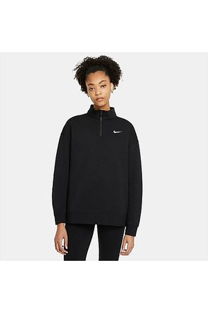 Nike Women's Sportswear Trend Quarter-Zip Fleece Sweatshirt in / Size X-Small Cotton/Polyester/Fleece