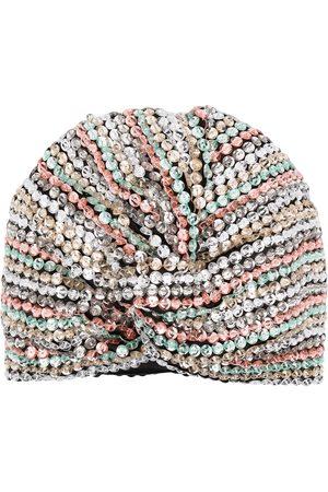 MaryJane Claverol Sequin-embellished turban