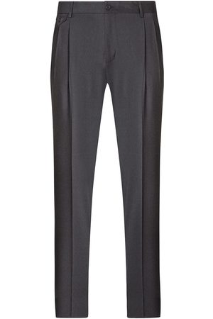 Dolce & Gabbana Dart-detailed tailored wool trousers - Grey