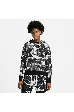 Nike Women Sports Hoodies - Women's Sportswear Standard Issue Printed Hoodie in / Size X-Small Cotton/Polyester/Fleece
