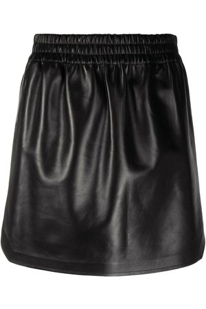 Bottega Veneta High-waist lambskin mini skirt