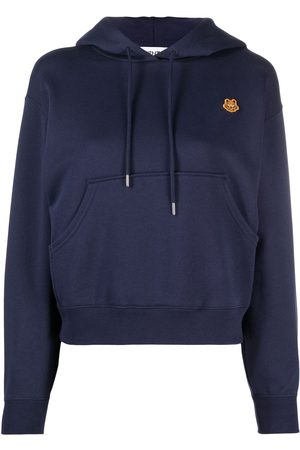 Kenzo Tiger patch cotton hoodie