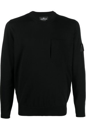 STONE ISLAND SHADOW PROJECT Fine-knit logo-patch jumper