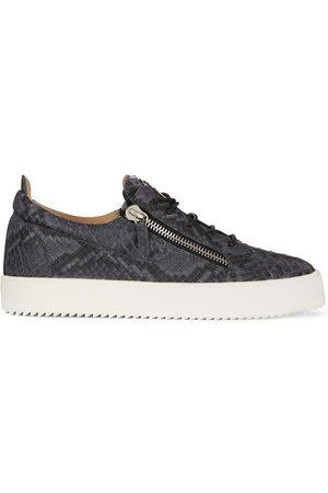 Giuseppe Zanotti Frankie python-print sneakers - Grey