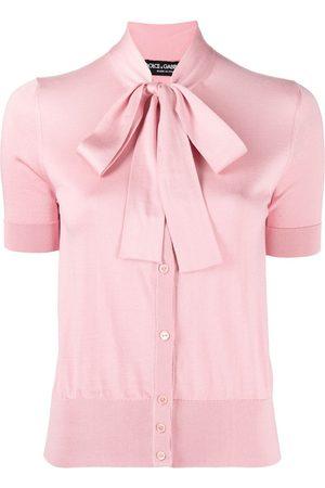 Dolce & Gabbana Women Blouses - Pussybow collar blouse