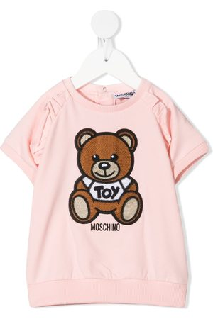 Moschino Baby Casual Dresses - Signature teddy embroidered dress
