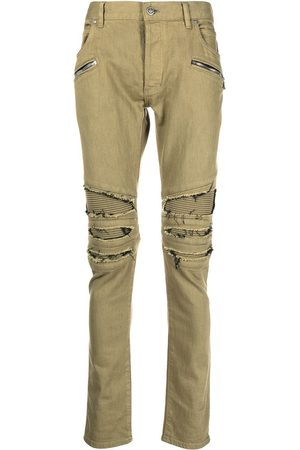 Balmain Ripped multi-pocket skinny jeans